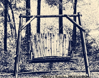 Sepia Swing, Nature Photography, Swing, Outdoor Photography, wooden swing