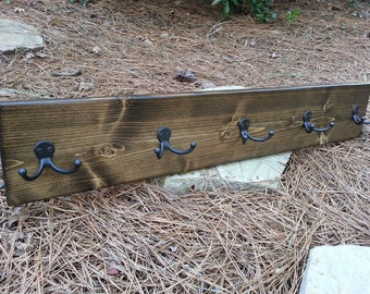 Coat Rack - Rustic Hanging Coat Rack - Reclaimed Wood Styled Coat Rack