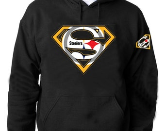 steelers superman logo together