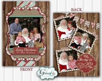 Photo Christmas Card, Rustic Christmas Card, Unique Christmas Card, Personalized Christmas Card, Printable Christmas Card, Holiday Card