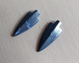 Natural Pyrite Arrow Pendant Charms 52*22mm