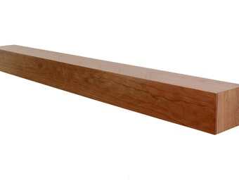 Floating Mantle | Solid Cherry Wood
