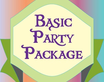 Basic Party Package - Choose,  Pick or Customize  your Theme