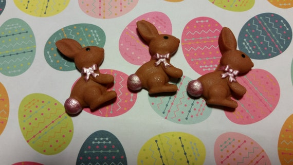 Easter Cake Edible Decorations : Edible Cake/Cupcake Decorations 12 EASTER BUNNY by ...
