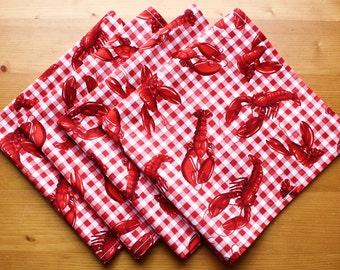 Dinner Napkin, Cloth Napkin, Cotton Napkin, Set of 4