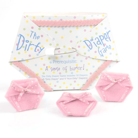 10 pc. Dirty Diaper Game - Pink Girl Baby Shower Games (1 Winner per Pack)
