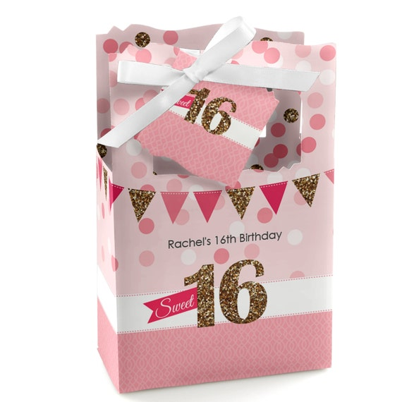 Personalized Party Favor Boxes Birthday : Sweet favor boxes custom birthday party supplies set of