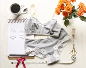 Lingerie Sewing Pattern Set for Ohhh Lulu Jasmine Bra and Lola Brazilian Cheeky Panties PDF Instant Download Pattern Bundle
