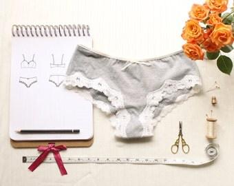 Lingerie  Panties Sewing Pattern Ohhh Lulu 1303 Lola Brazilian Panties Multi-size Digital PDF Pattern