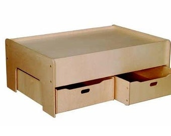 Train Table, Play Table w/ Optional Storage Drawers, Unfinished Wood Furniture