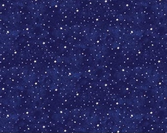 Blast Off 4852-49 - Stars Constellations on Deep Blue Background by Cheri Strole - 1 Yard