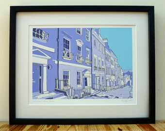 Lansdown Road, Bath - Limited Edition Contemporary Giclée Print