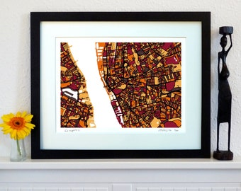 Liverpool Art Map - Limited Edition Contemporary Giclée Print