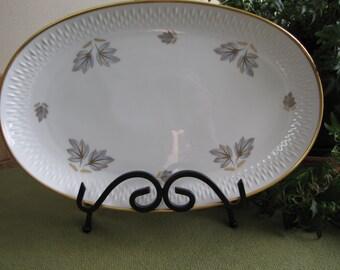 Vintage Edelstein Bavarian Platter Autumn Leaves 21481 Coronado Pattern Made in Germany