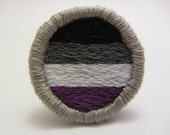 Asexual Pride Hand Embroidered Merit Badge-Style Patch