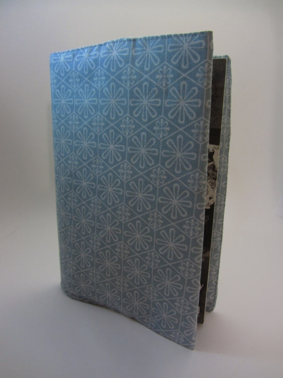 Blue and Black Floral Adjustable Fabric Manga Cover