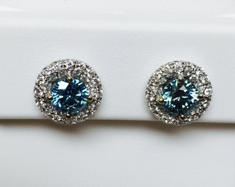 diamond earrings etsy