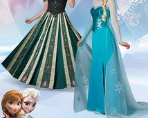Disney Frozen Costumes for Misses' Simplicity Pattern 1215