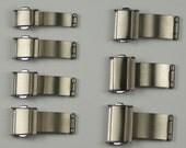 Titanium watch buckleclasp for bracelet strap 3 fold spring release metal band