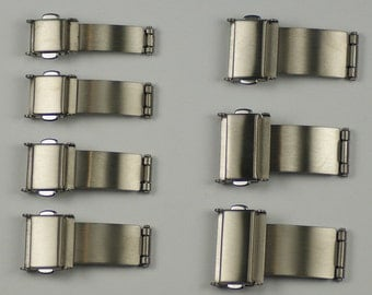 Titanium watch buckle/clasp for bracelet strap 3 fold spring release metal band