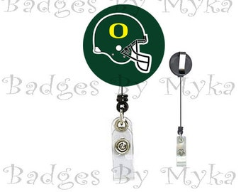 Retractable ID Badge Holder - Oregon Ducks