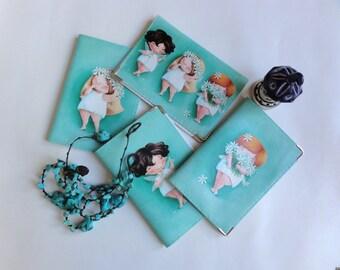 Passport holder with fairies by Elina Ellis