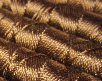 SILKA natural silk embroidery thread, spool of 32 ft (10m), BROWN 707