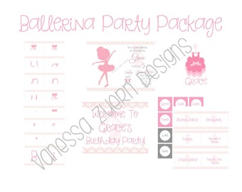 Printable Ballerina Party Package