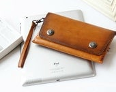 Handmade Leather Iphone Wallet, Vintage Leather Wallet, Women Wallet, Handmade Wallet, Leather Purse,Iphone purse
