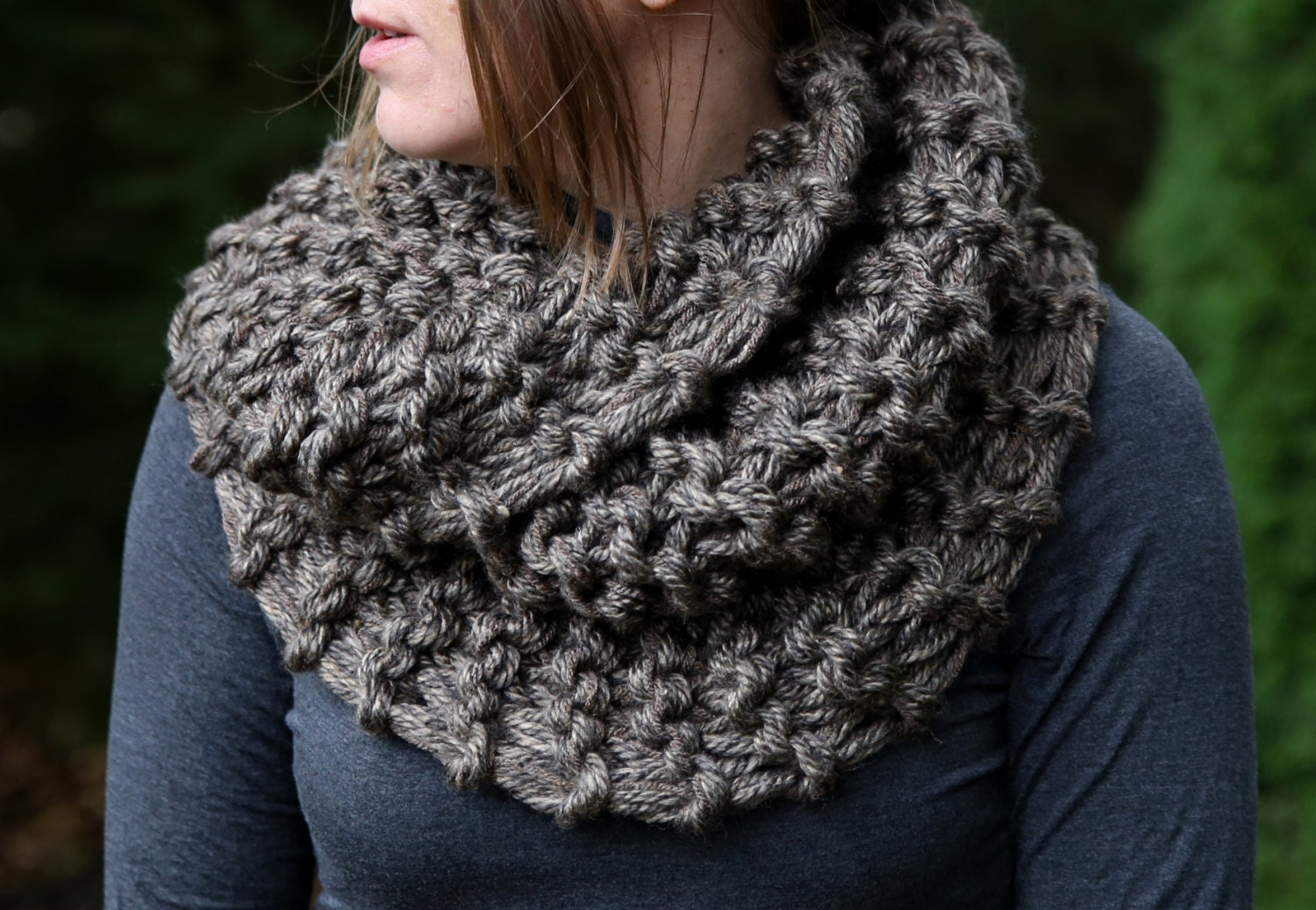 Knitting Pattern For Claire s Cowl : Hand Knit Outlander Inspired Claires Mobius Cowl by KnitPlayLove