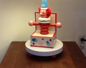 Children's Lamp,Wooden Lamp,Clown Lamp~ Free Shipping in U.S.A.