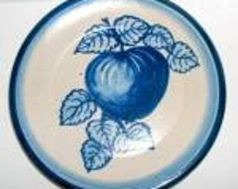 """Vintage Original  Dorchester Pottery Fruit Pattern  Dessert Plate -  7-1/2"""" - Apple and Leaves Design"""