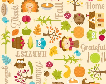 UK Shop: Happy Harvest Main Thanksgiving Riley Blake Cotton Fabric