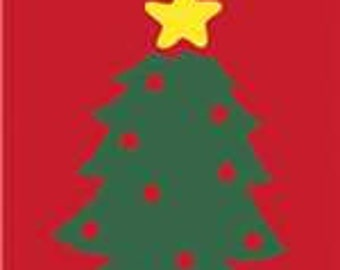 Christmas Tree Handcrafted Applique Garden Flag