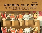 Wooden paper clips | Kawaii Clip | Erin Condren Planner | InkWEll Press Clip | Paper Clip Set | Picture Hanging Clips |FiloFax Clip | K23.15