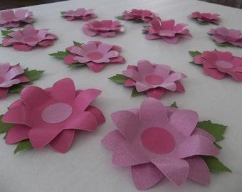 3D Flower Wall Decoration - 3D Flower Decoration - 40 Pieces