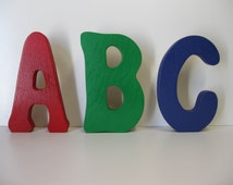 Popular items for stand up letters on etsy for Standing wood letters to paint