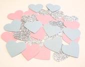"225 1""  Gender Reveal Party Decor Pink Blue Shower Pink Blue Confetti Pink Blue Shower Decoration Pink Blue Wedding Baby Shower Invitation"