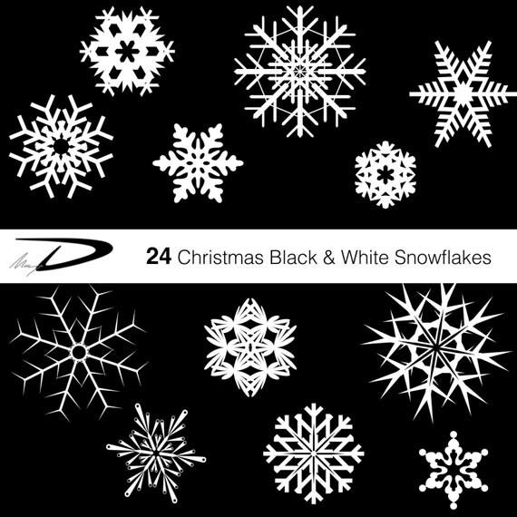 24 weihnachten schneeflocken digitale schneeflocken clipart. Black Bedroom Furniture Sets. Home Design Ideas