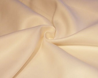 Winter White Twill Weave Linen Fabric by the Yard