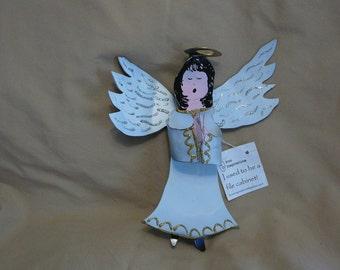 Recycled metal Angel Magnet