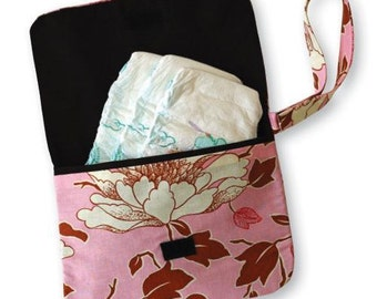 Diaper Clutch in Pink Tree Peony from Amy Butler Designs