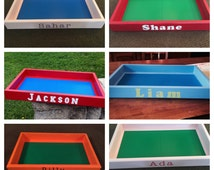 Personalized Lego Tray (Standard Legos or Lego Duplos) Custom made MANY colors available! Great holiday gift for your little lego creator!