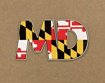 Maryland Flag 'MD' Decal