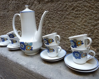 Delicious porcelain set of coffee, from the 60's