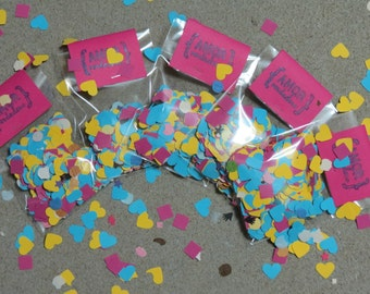 Packaging Confetti for wedding.