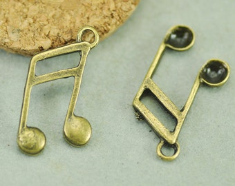 15mmx20mm Antique Silver tone Music Note  Connector  Pendant Charm