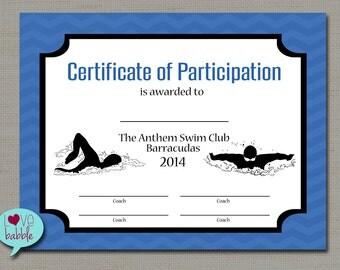 Gymnastics award certificate dance award printable digital for Team certificate template