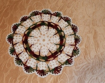 New Hand Crocheted Christmas Doily