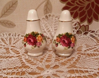 Old Country Roses salt and pepper shakers.